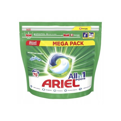 Капсулы для стирки Ariel All in 1 Pods Mountain Spring (70 штук)